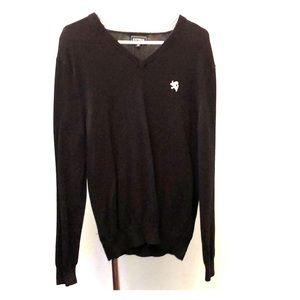Express V-neck sweater - black